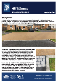 Quicksetts Resin Bound Edging Taylor Wimpey Homes